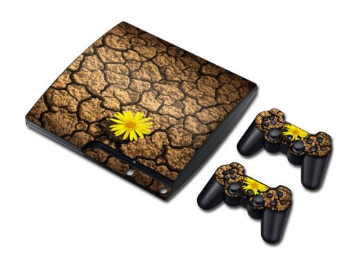Vinyl Decal Skin/stickers Wrap for PS3 Slim Play Station 3 Console and 2 Controllers-Chrysanthemum - Chrysanthemum Wrap