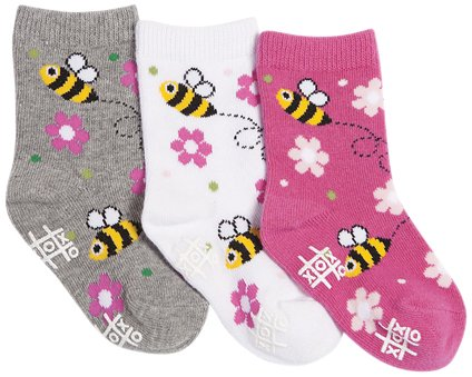 Tic Tac Toe Baby Girls' Bumble Bee Graphic Socks