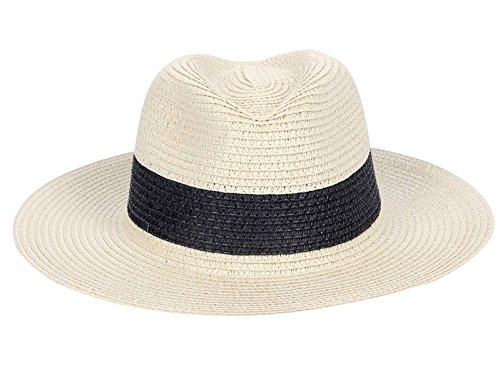 Young Womens Colorblocked Panama Straw