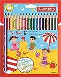 Stabilo Trio Pochette de 18 crayons de couleur triangulaires Couleurs Assorties