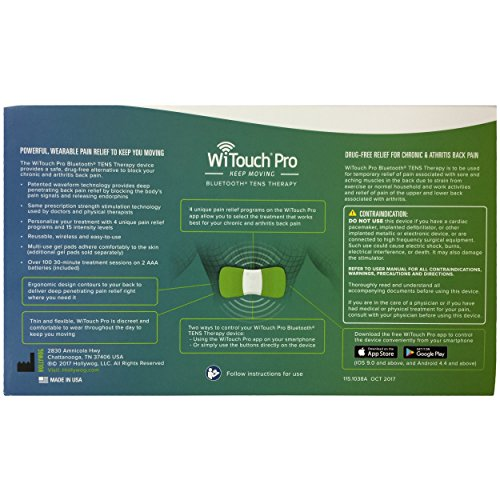 WiTouch Pro Wireless Bluetooth TENS - Includes 6 Gel Pads (3 Pairs of Gel Pads) by Hollywog (Image #6)