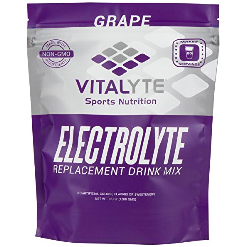 Vitalyte Natural Electrolyte Powder Sports Drink Mix, Gluten Free, 80 Servings Per Container, Grape