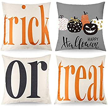 Amazon.com: King65irginia - Funda de almohada para Halloween ...