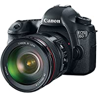 Canon EOS 6D DSLR Camera with EF 24-105mm f/4L IS USM Lens (Certified Refurbished)