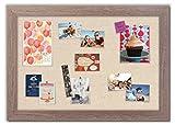 Framed Fabric Bulletin Board with Montauk Driftwood Frame / Linen Fabric
