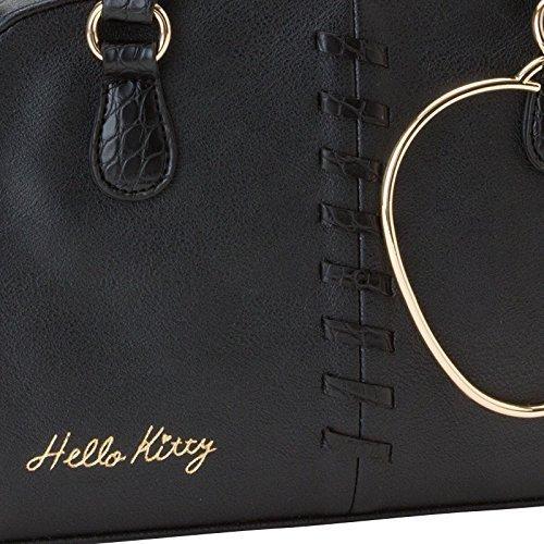 metallo Kitty colore spalla anello Sanrio adulte di 253804 Borse Borse ad donne nero a per Hello fYwqCa