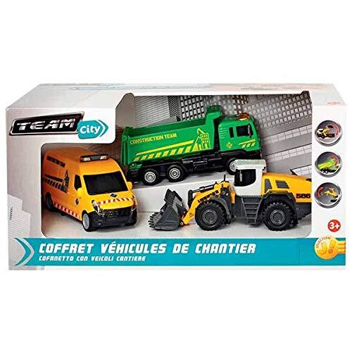 Team City Coffret avec 3/V/éhicules Chantier Man Renault LIEBHERR