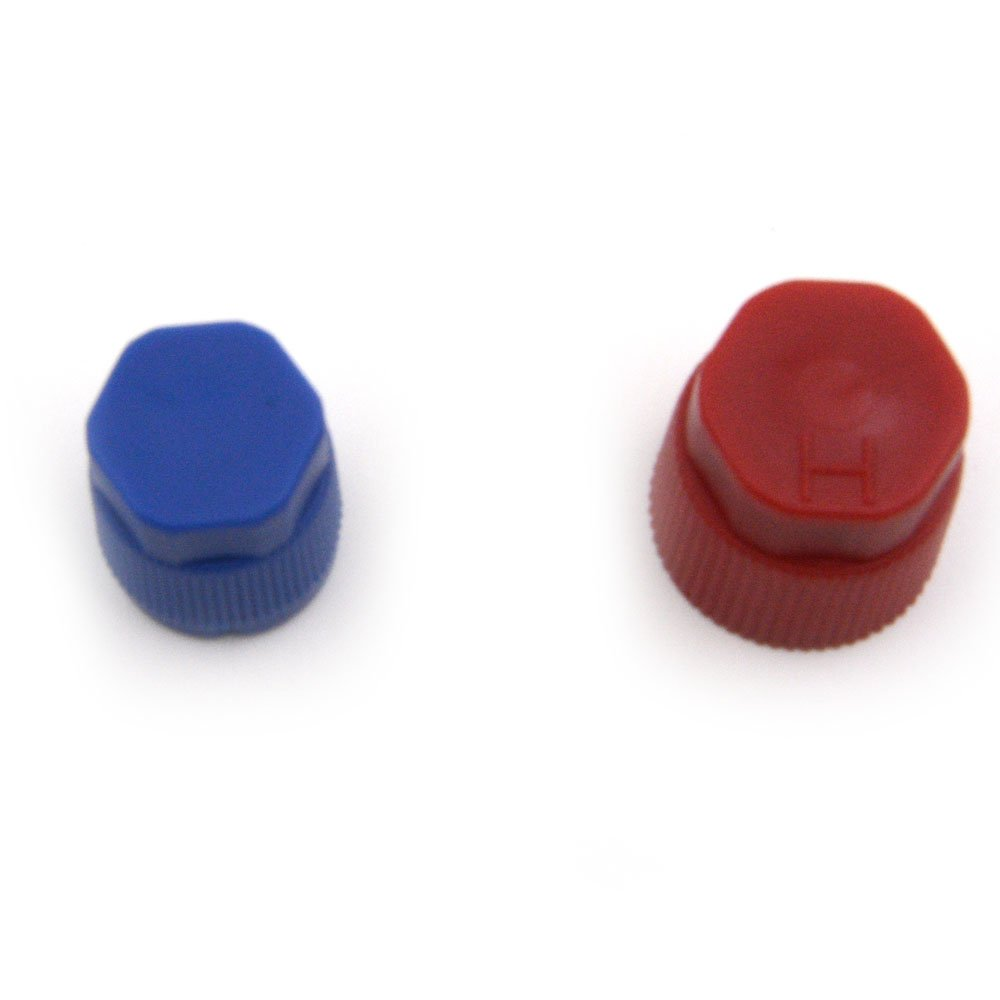 Nikatuo 10Pcs Red/&Blue High Low Pressure Auto Air Conditioning Service Valve Fitting Caps
