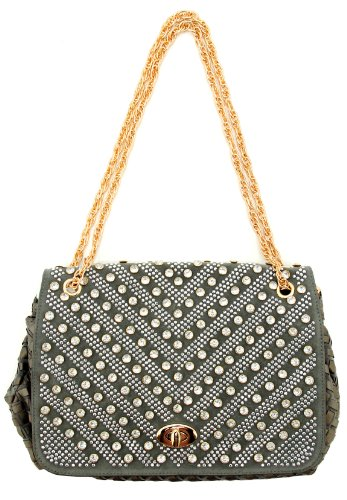 Party Eyecatching Woven Leather Shoulder Bag/Evening Bag/Handbag