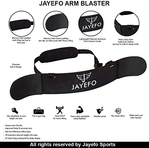 Jayefo Arm Blaster for – Arm Bicep Support – Bicep Curl – Muscle Bomber for Biceps, Triceps, Arm Muscle Strength – Bicep Blaster Heavy Duty for Body Builders Weightlifters.Biceps Isolator.