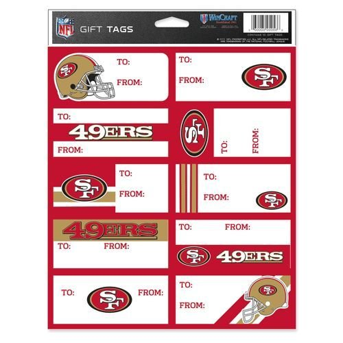 WinCraft NFL San Francisco 49ers Gift Tags, Team Color, One Size