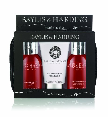 baylis-and-harding-mens-mens-black-pepper-and-ginseng-travel-set-by-globalbeauty