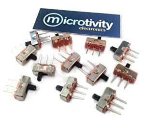 microtivity IM231 3-pin Slide Switch (Pack of 12)