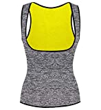 Camellias Women's Waist Trainer Vest, Hot Sweat Neoprene Slimming Workout Tank Top no Zipper, Tummy Control Corset Body Shaper Fat Burner for Weight Loss,SZ8017-Gray-L