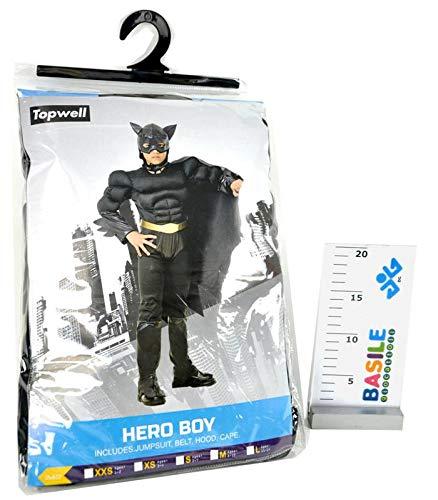 Topwell Batman Bat Hero Child Costume 5+, Black, 5-7 Years, -