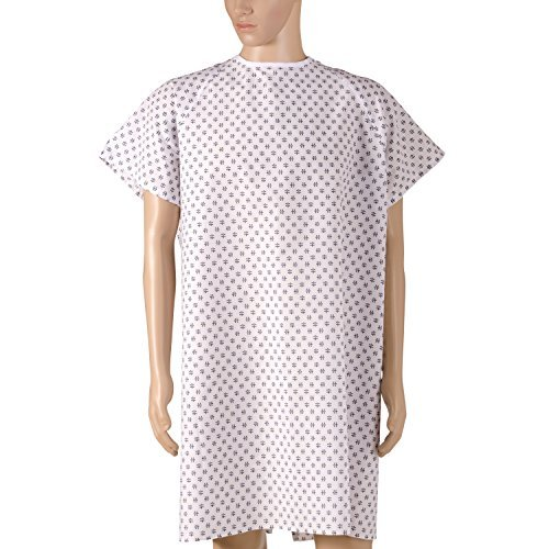 DMI Patient Unisex Hospital Gowns with Back Tie, Print, 12-Count by MABIS DMI Healthcare