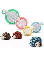 Cisixin Pompom Maker, 4 Sizes of Pompom Maker for Kids DIY Knitting Craft Tool Fluff Ball Weaver Maker
