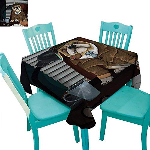 English Bulldog Fabric Dust-Proof Table Cover Traditional for sale  Delivered anywhere in Canada