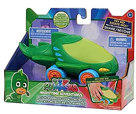 EXCLUSIVE PJ Masks Nighttime Adventures Rev-N-Rumbler GEKKO Mobile Vehicle - Features Cool