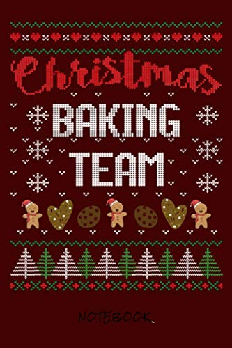 Christmas baking team: Journal for writing I Composition Book I Blank paper with integrated page numbers l Narrow Ruled I Diary  I 120 Pages I