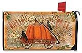 Briarwood Lane Prized Pumpkin Fall Magnetic Mailbox Cover Primitive Autumn Wagon Standard