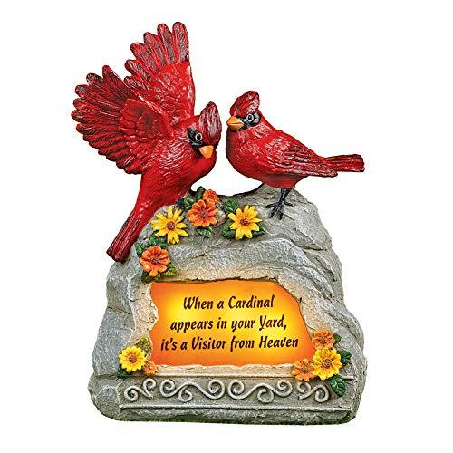 Collections Etc Solar Lit Cardinal Memorial Garden Decoration