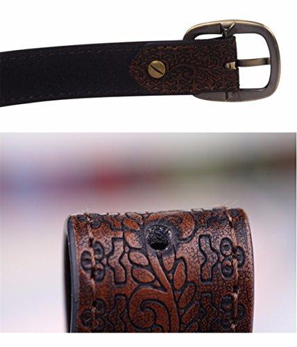 SAIBANGZI Ms Women All Seasons Belt Casual Jeans Belt Fine Fabric Fashion Decorative Belt Girlfriend Present Brown 82-92Cm by SAIBANGZI (Image #5)