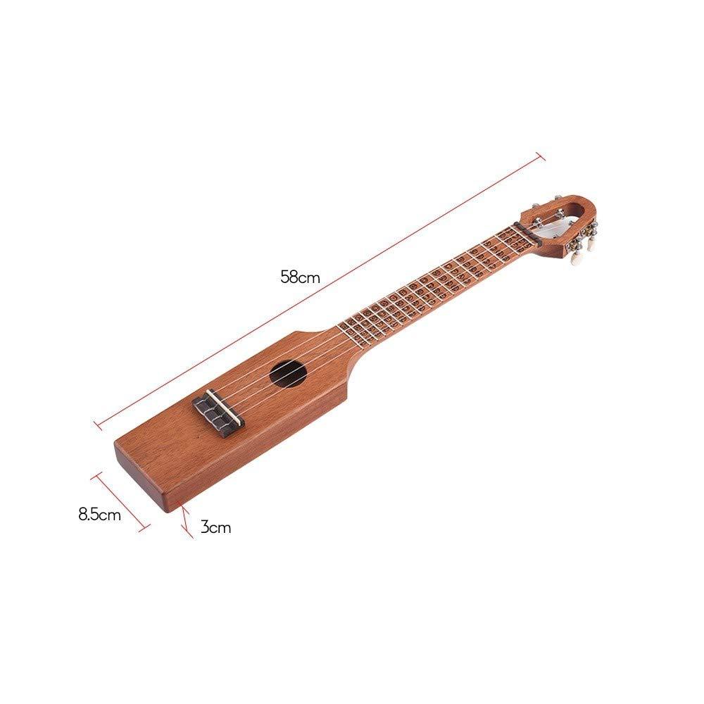 NIMEDI Ukelele Ukulele Portátil Ukulele Concierto De Caoba Compacto Con Escalas Grabadas Y Acordes Bolsa De Transporte: Amazon.es: Instrumentos musicales