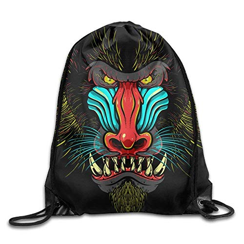 Angry Apes Gym Drawstring Backpack Unisex Portable Sack Bag (Pack Arcteryx Cover)