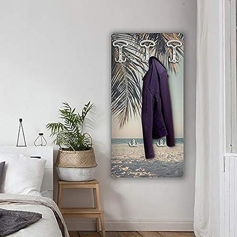 Palm Dekoidea by Crearreda Attaccapanni Stampato Shabby 45 x 90 x 1 cm in Legno