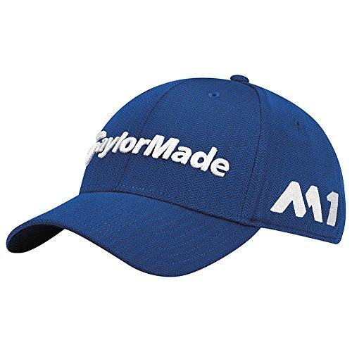 TaylorMade Golf 2017 tour new era 39thirty white hat blue azure ()