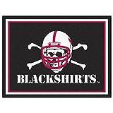 FANMATS 20713 Nebraska - Black shirts 8'X10' Rug, Team Color, 87''x117''