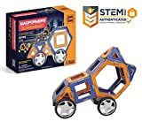 Magformers XL Cruisers Set (32-pieces) Magnetic    Building      Blocks, Educational   Magnetic    Tiles Kit , Magnetic    Construction  STEM Toy Set includes wheels