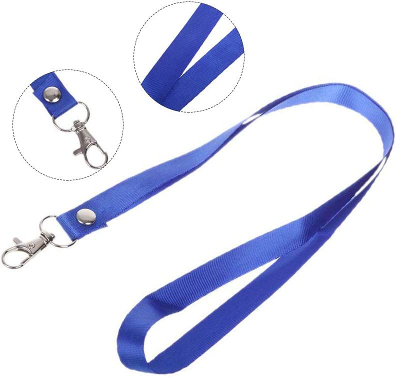 10 Pack Neck Lanyard with ID Badge Holder,Durable Flat Nylon Office Lanyard Strap with Clip Swivel Hook for Name Tag Badge Holders,Keychains,Camera,Cellphone,USB Flash Drive,Whistle