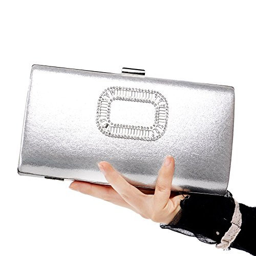 Silver KERVINFENDRIYUN Red Dress Clutch Purse Bag Evening Wedding Color Handbag Banquet Bag Lady Shoulder q6FCwxOq1