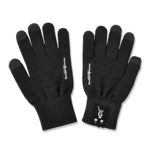 NEW BLUETOOTH GADGET GLOVES ALLOW YOU TO TALK TO THE HAND... LITERALLY! Bluetooth Gloves - Microphone Built Into the Pinkie and Speaker Built Into the Thumb - Touch Screen Compatible (Black-Med) by U-GO GADGET GLOVES