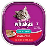 Whiskas Captain's Catch with Crab in Sauce Cat Food, 3.53-Ounce (Pack of 24), My Pet Supplies