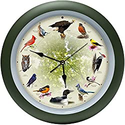 Mark Feldstein Limited Edition 20th Anniversary Singing Bird Clock, 13 Inch
