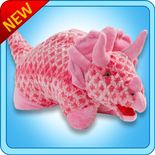 Pink Triceratops Pillow Pets Large 18