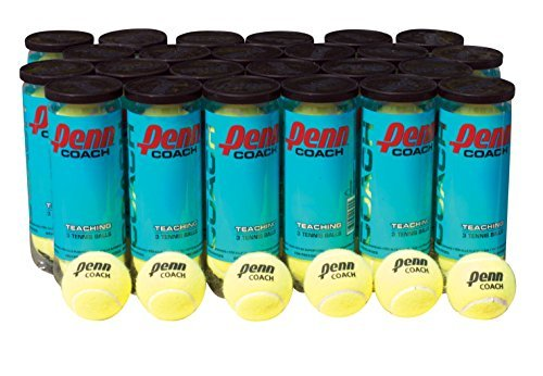 Penn Coach Practice Tennis Balls, Case of 72 Balls, 24 cans, 3 Balls per Can by Penn
