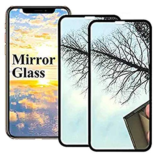 2 Pack 【Mirror Effect】 i Phone Xs Max Screen Protector Compatible With iPhone Xsmax Tempered Glass Sx Plus 10s Max iPhonexsmax Protective Film (2018) [ 3D Curved ] [ 9H Hardness ]