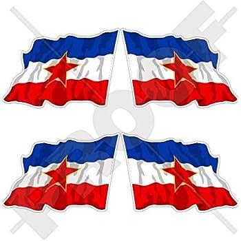 Amazon.com: Yugoslavia SFR Flying Bandera, República Federal ...