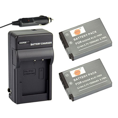 dster-2x-klic-7003-rechargeable-li-ion-battery-travel-car-charger-dc53-for-kodak-easyshare-m380-m381