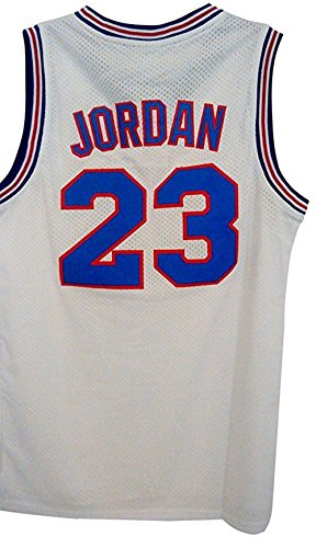 2017 Black Friday Hot Sale No.23 Space Movie Jersey Mens Basketball Jersey Include Free Themed Wristbands Gift White Size - The Prescott Portland