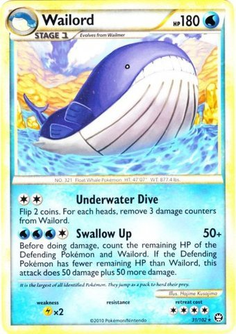 Pokemon - Wailord (31/102) - HS Triumphant for sale  Delivered anywhere in USA
