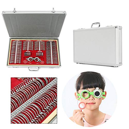 266Pcs Optical Trial Lens Set Optometry Metal Rim Aluminium Case Kit Set with Optometry Test Trial Frame (USA STOCK) by SHZICMY (Image #3)