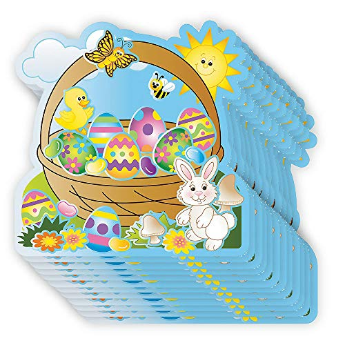 (Make Your Own Sticker - Pack of 12 Egg-Cellent Make-An-Easter-Basket Sticker Scenes - Perfect for Stress Reliever, Educational Game, Sensory and Tactile Stimulation, DIY, and Event Favor )