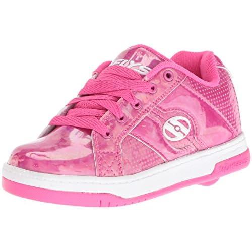 Heelys Kids' Split Sneaker,Pink/Hologram,8 M US Big Kid