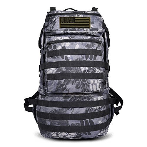 Paladineer Military Rucksacks Army Patrol Tactical Backpack Molle Assault Pack Combat Day Pack 65L Black P