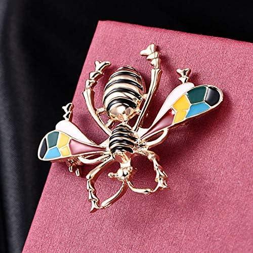 Charms Cristal Bee broches plaqué or noir /& jaune émail Broche Broche Cadeau